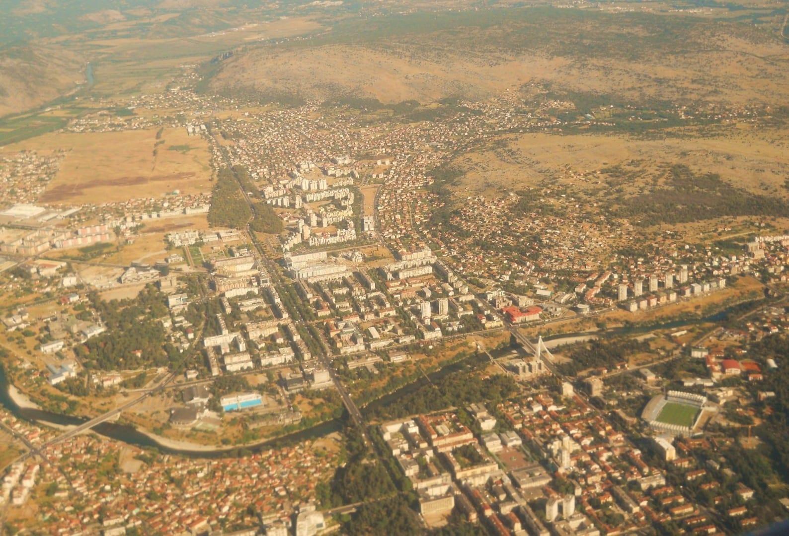Vista aérea de Podgorica Podgorica Montenegro