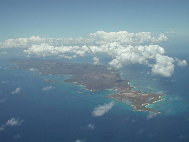 Vista aérea de Vieques Isla Vieques Puerto Rico