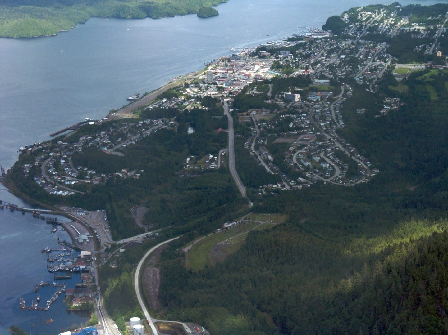 Vista aérea del Príncipe Rupert Prince Rupert Canadá