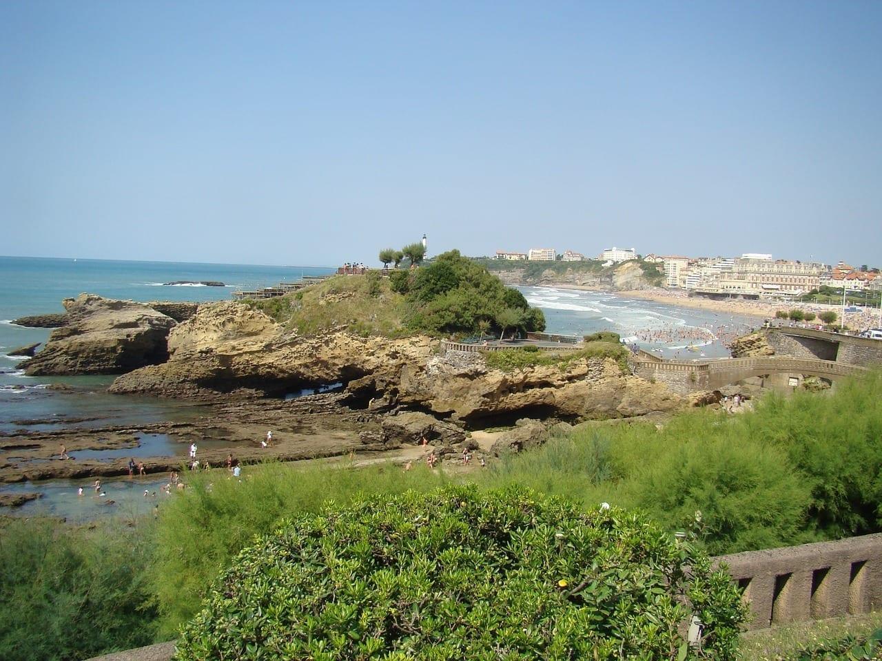 Vista Biarritz Verano Francia