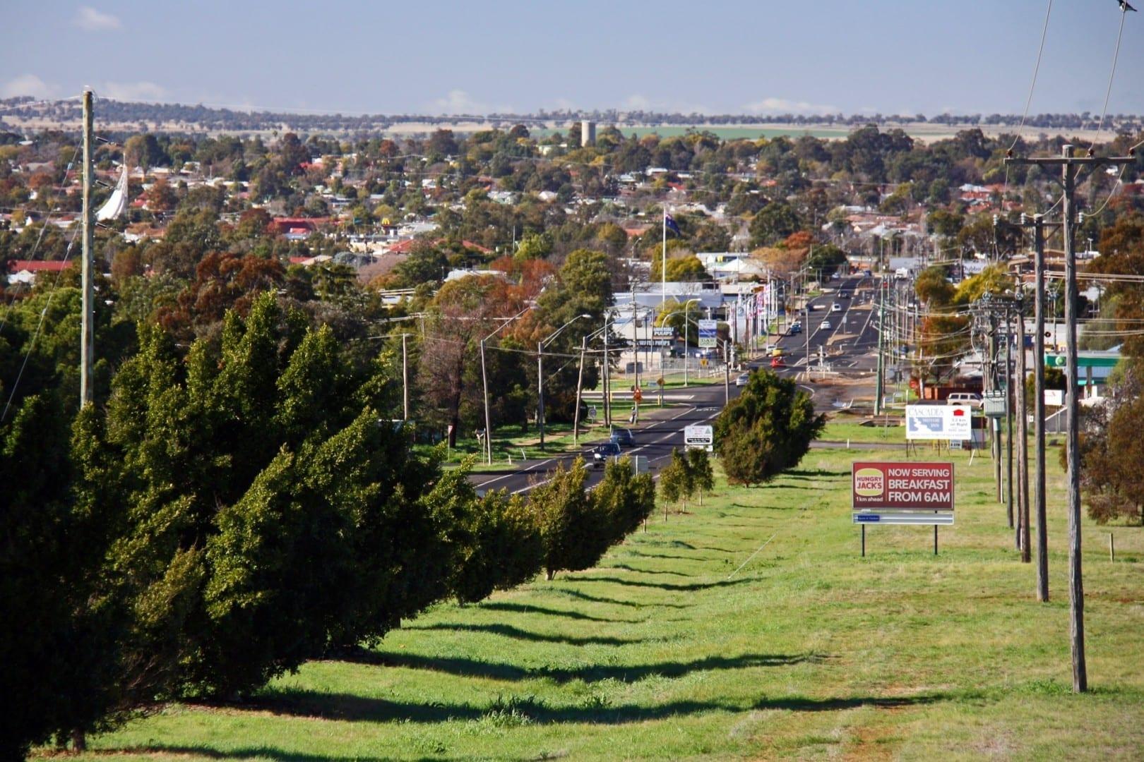 Vista de Dubbo desde el suburbio de West Dubbo Dubbo Australia
