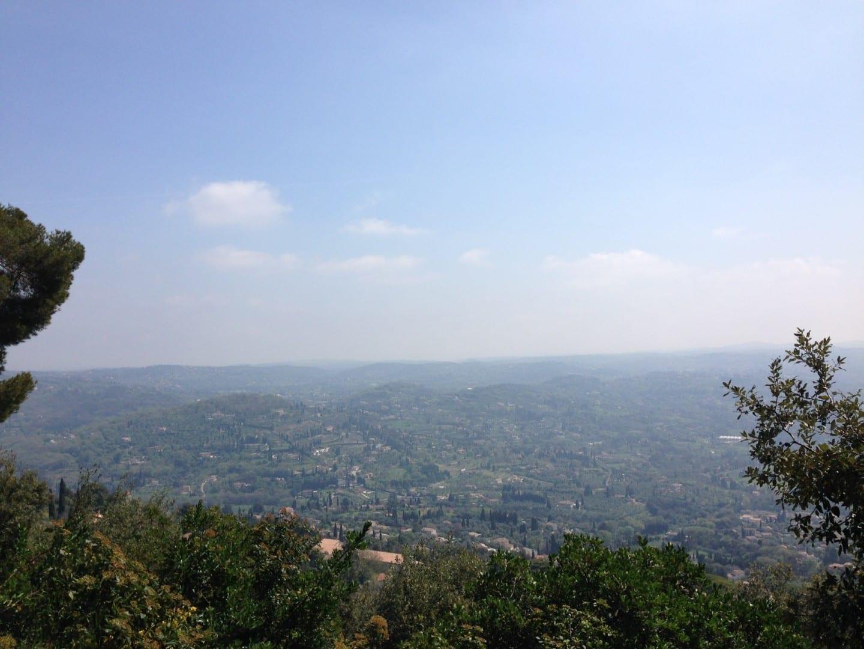 Vista del valle desde Grasse Grasse Francia
