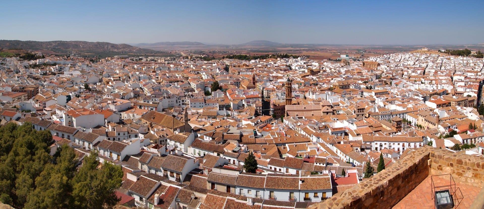 Vista desde el castillo de Antequera Antequera España
