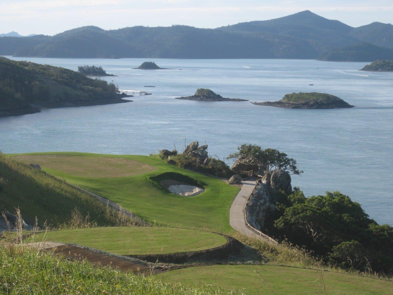 Vista desde el hoyo 16 del Club de Golf de Hamilton Island Islas Hamilton Australia