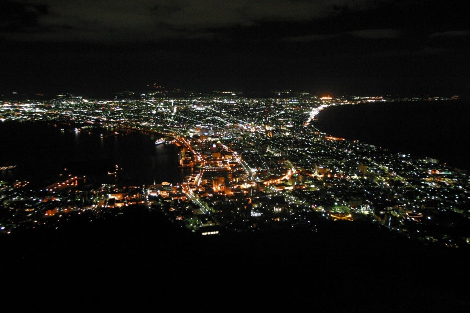 Vista desde Hakodateyama de noche Hakodate Japón