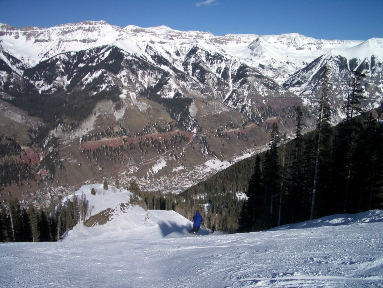Vista desde las pistas de esquí de Telluride. Telluride CO Estados Unidos