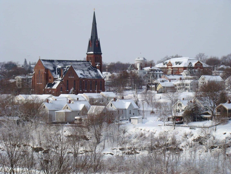 Vista invernal de Bangor Bangor Estados Unidos