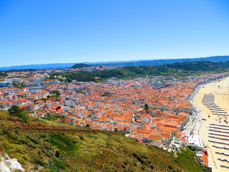 Vista panorámica del pueblo de Nazaré Nazaré Portugal