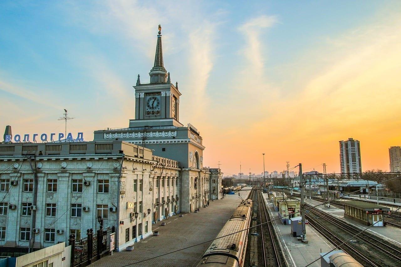 Volgogrado Noche Ciudad Rusia