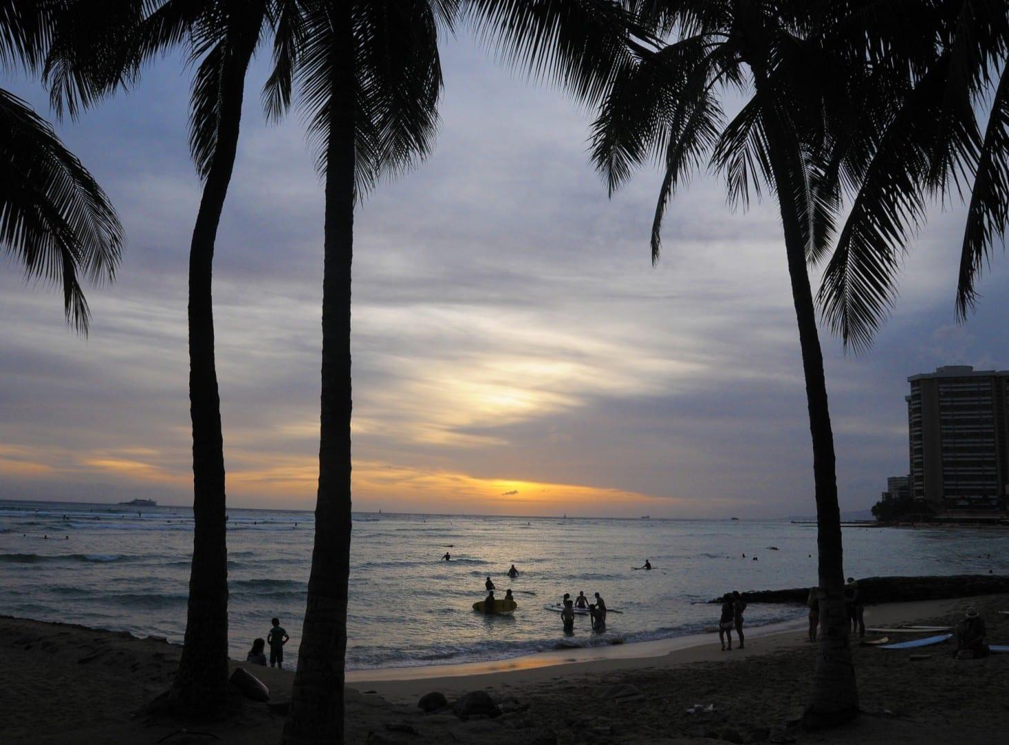 Waikiki-Oahu-sunset-Janine-Sprout Oahu HI Estados Unidos