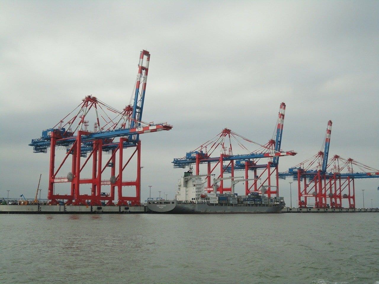 Wilhelmshaven Mar Del Norte Jadeweserport Alemania
