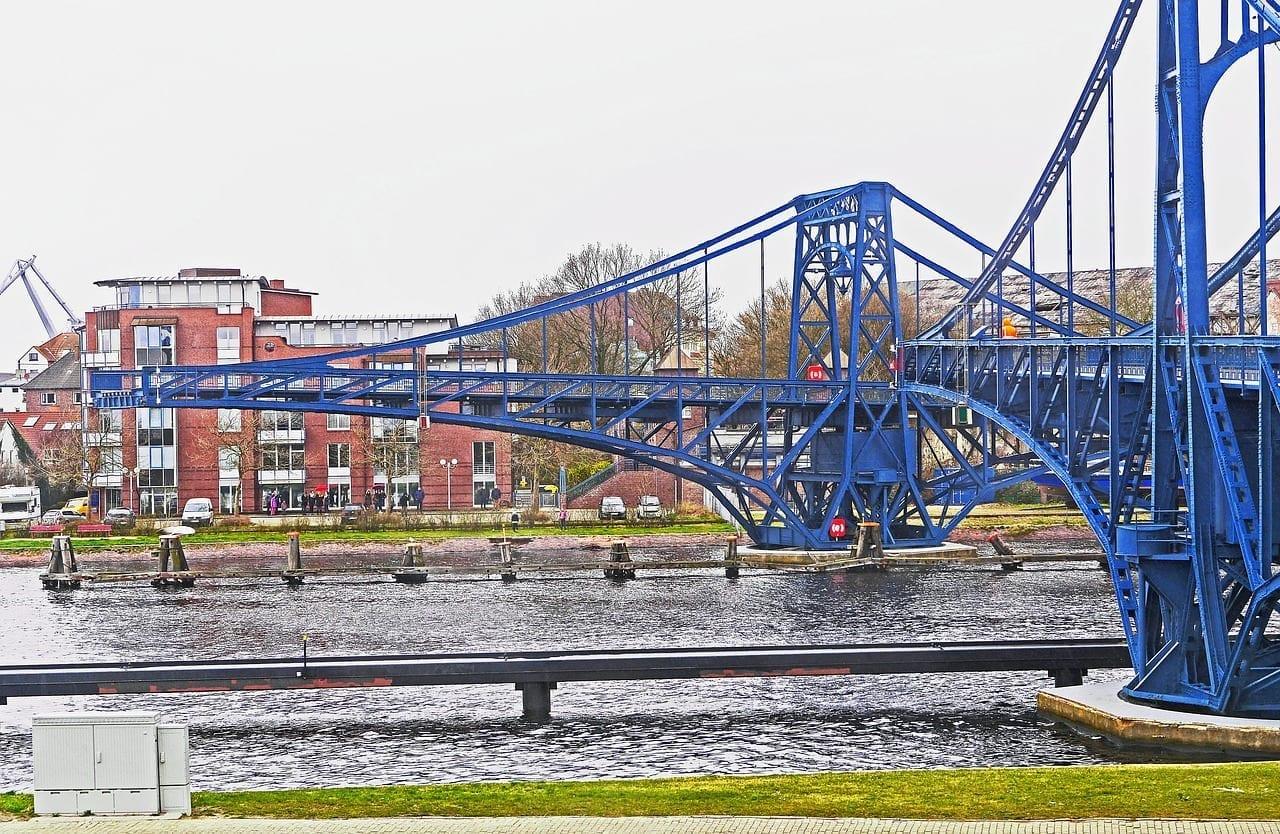 Wilhelmshaven Puente De Kaiser Wilhelm Puente Giratorio Alemania