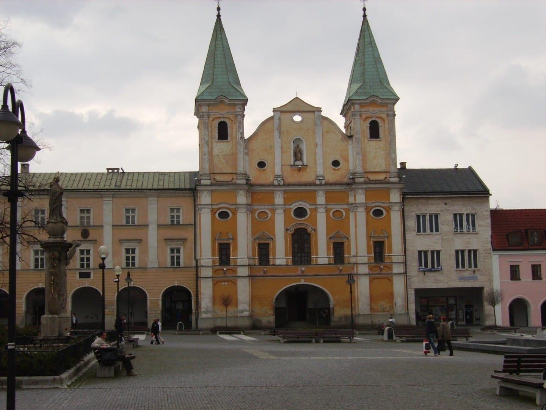 Zilina - plaza principal Zilina República Eslovaca