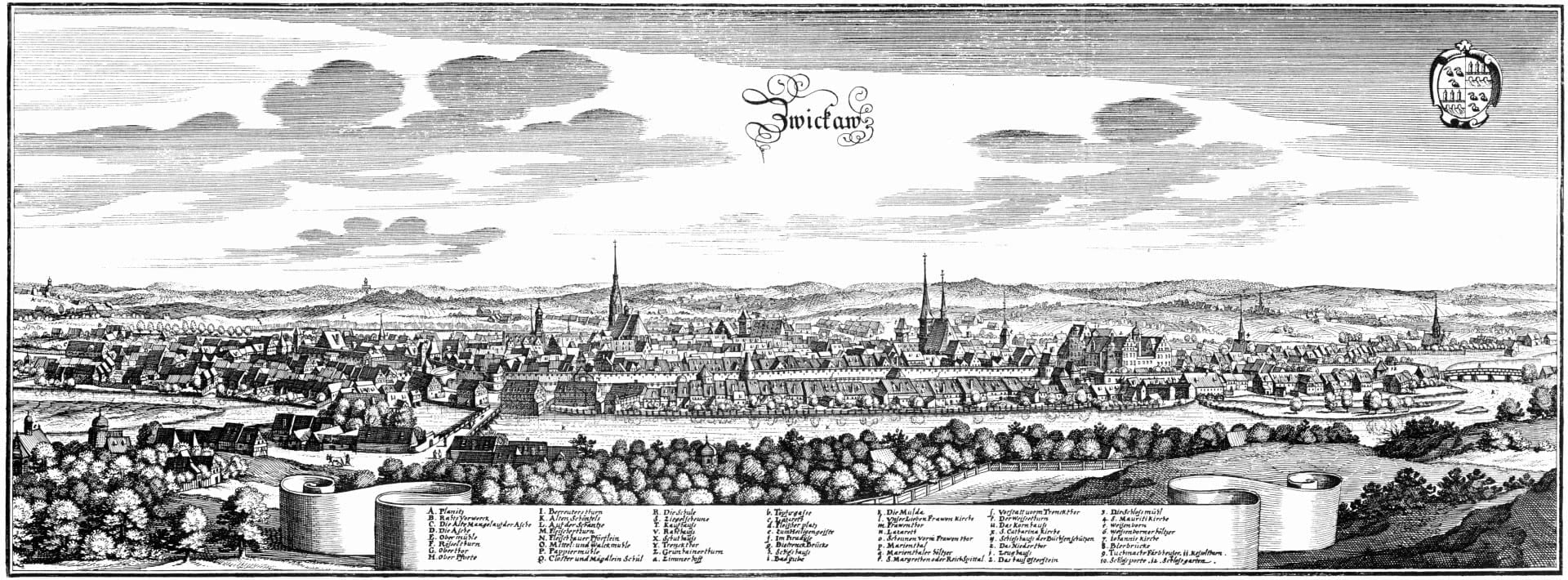 Zwickau en 1650 Zwickau Alemania