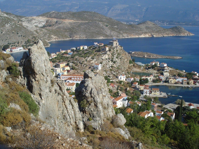 a la derecha Kastelorizo Grecia