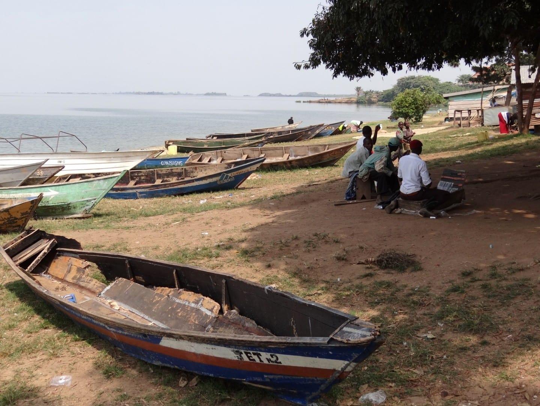 A orillas del Lago Victoria Entebbe Uganda