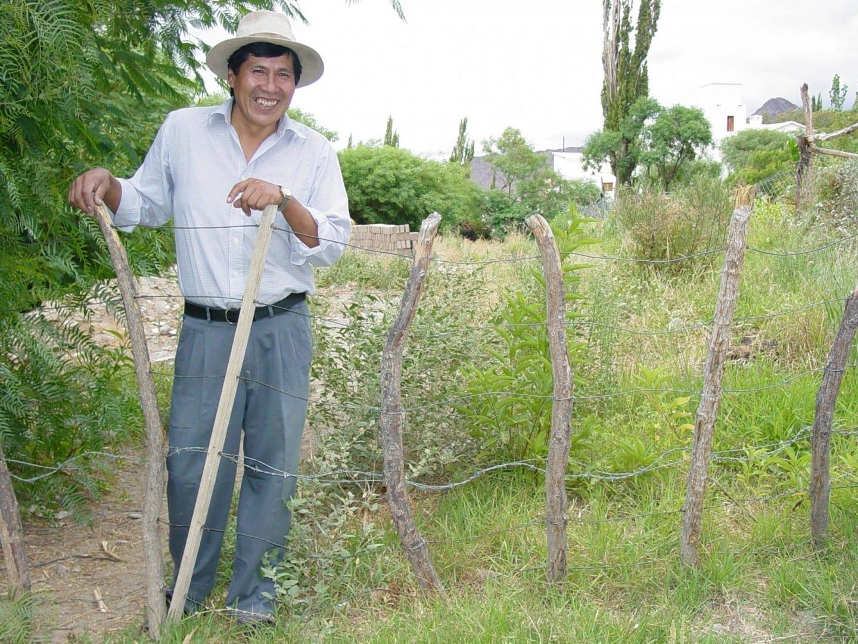 Agricultor argentino en Cachi. Cachi Argentina