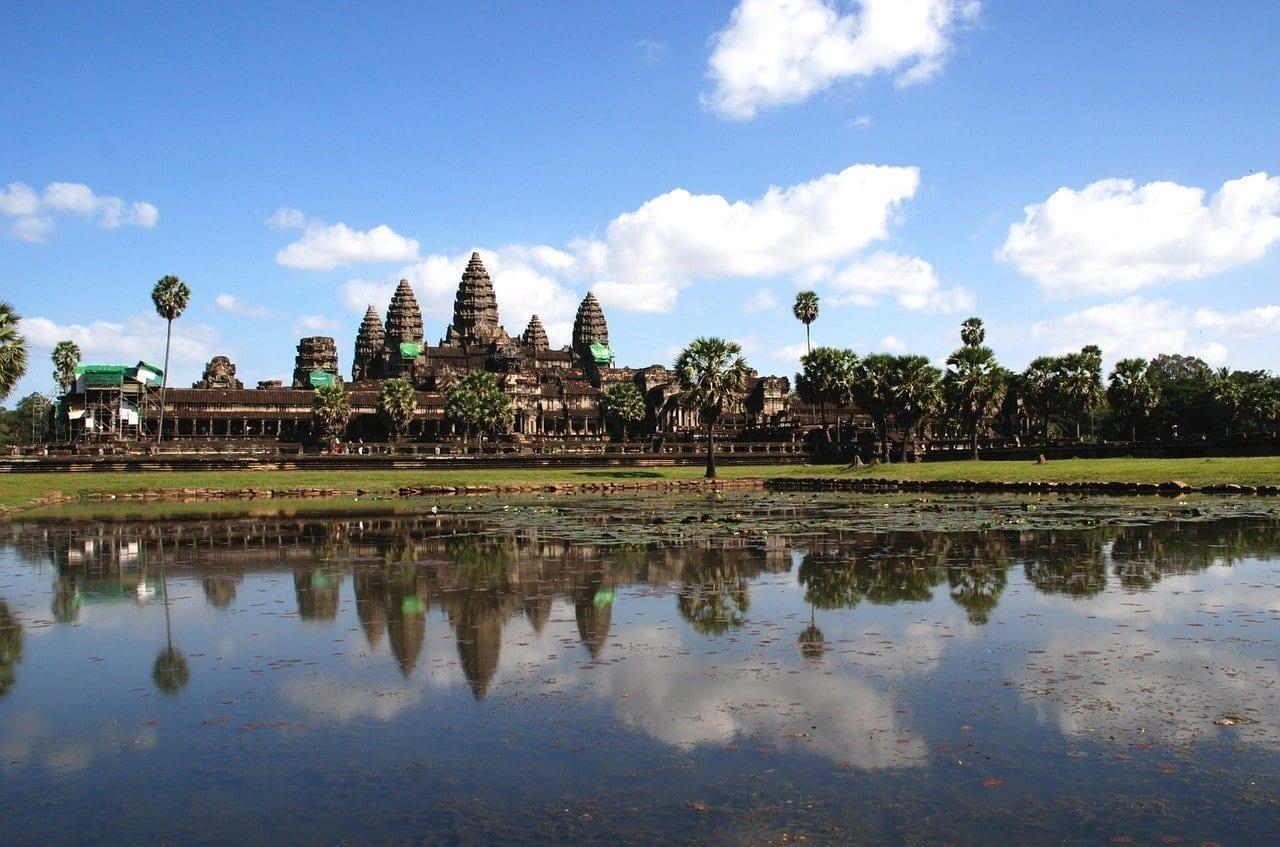Angkor Wat Agua Templo Camboya