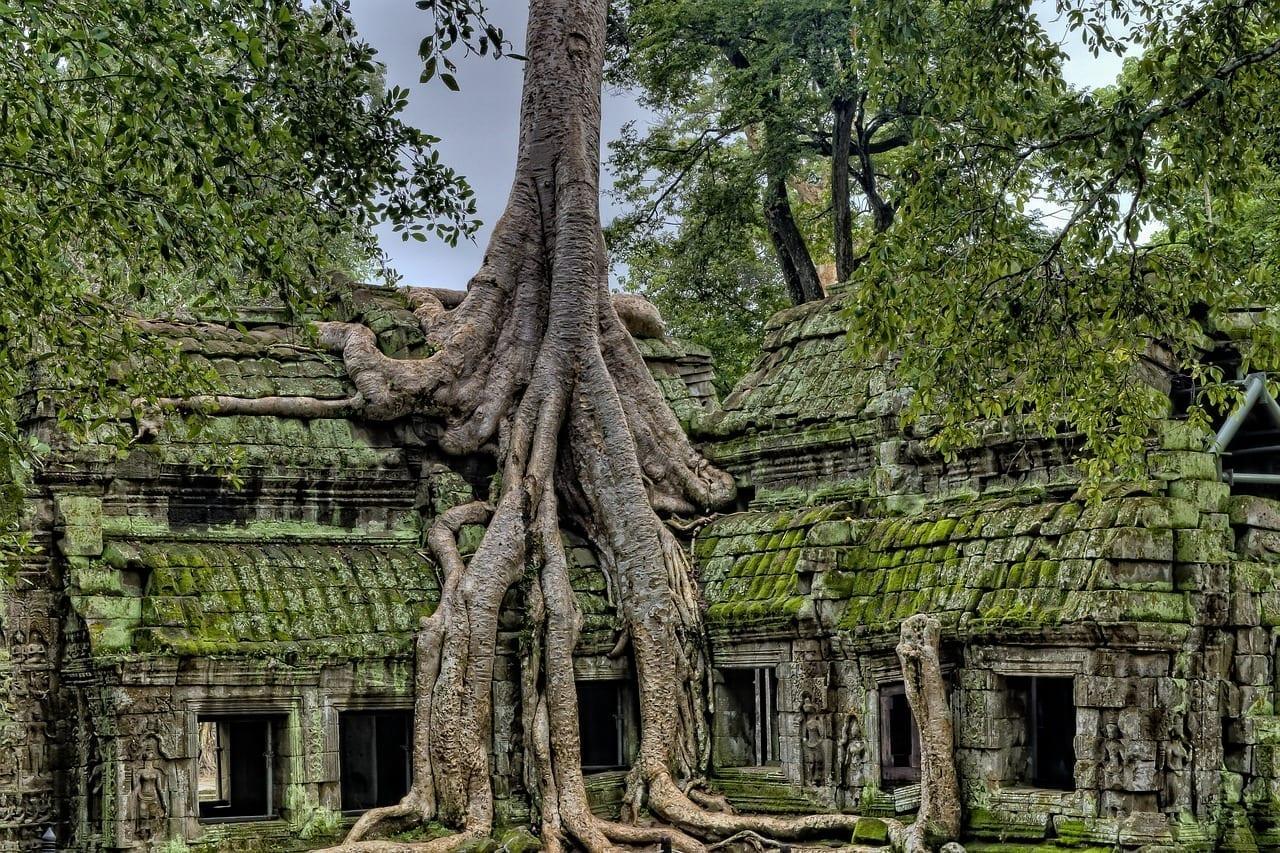 Antigua Angkor Los Templos De Angkor Vat Camboya