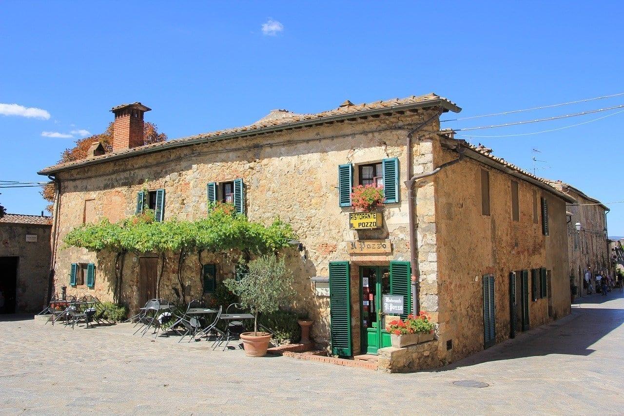 Antigua Castello Di Monteriggioni Toscane Italia