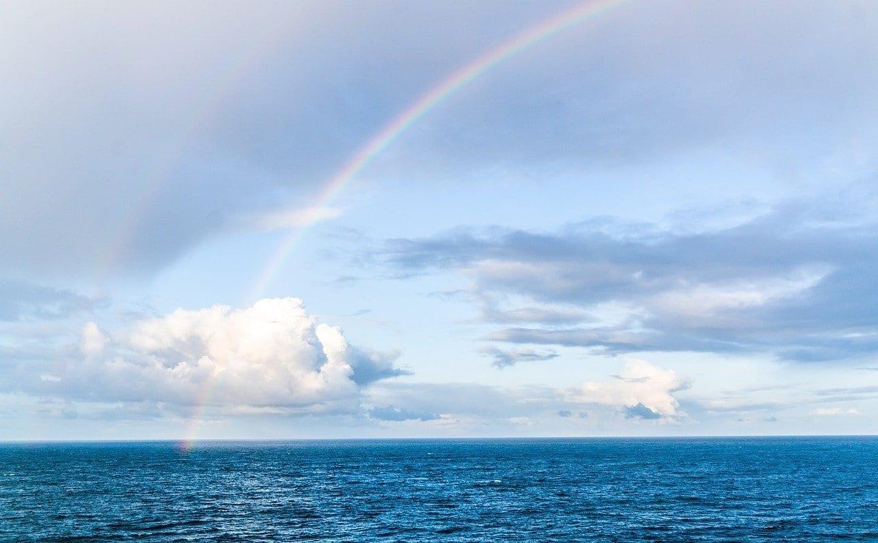 Arco Iris Nubes Mar Del Norte México