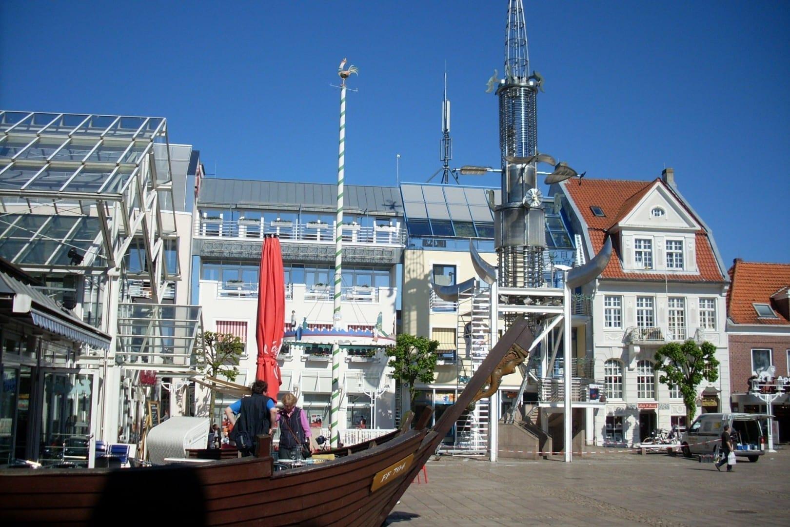 Aurich - plaza del mercado Aurich Alemania