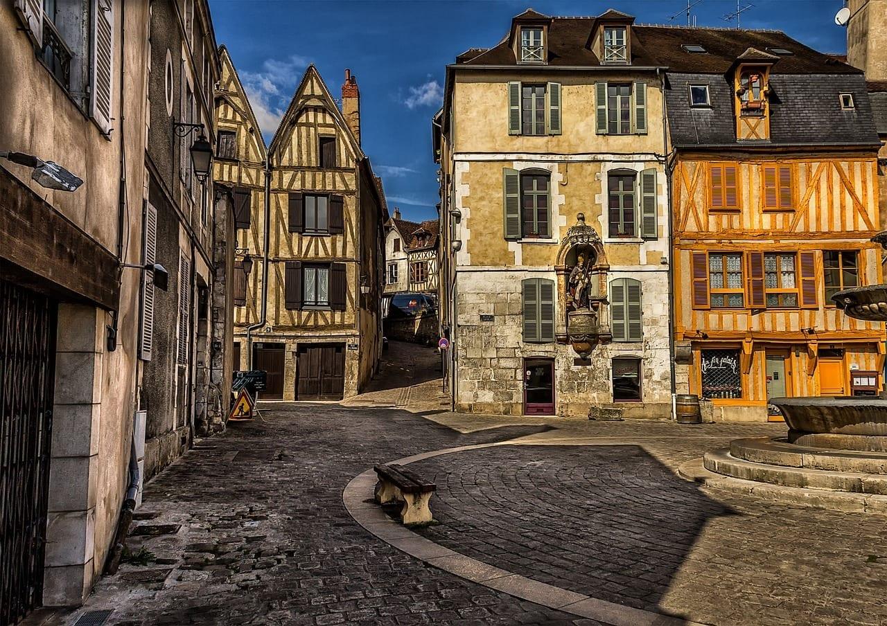 Auxerre Ciudad Urbana Francia