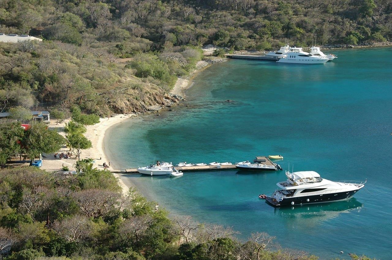 Bahía Islas Vírgenes Británicas Yate Islas Vírgenes del Reino Unido