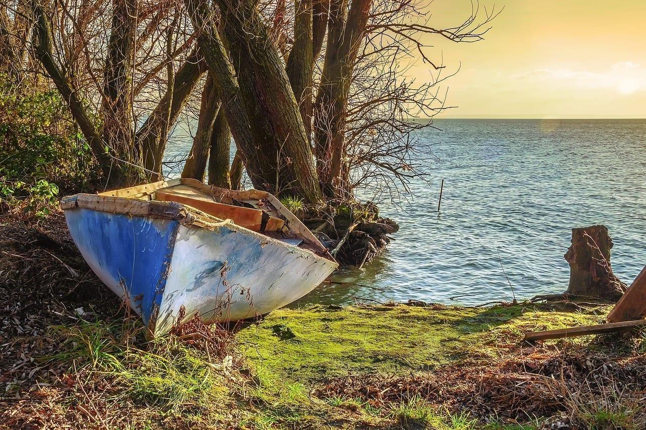 Barco Parte Lago Balaton Hungría