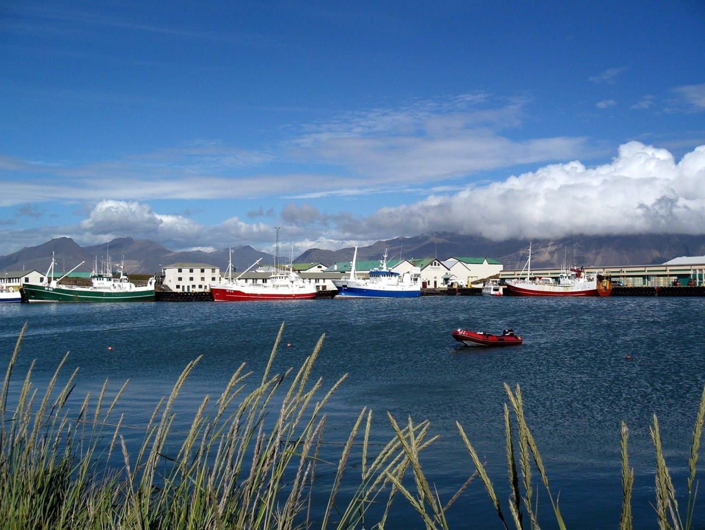 Barcos de pesca en el puerto de Höfn Höfn Islandia