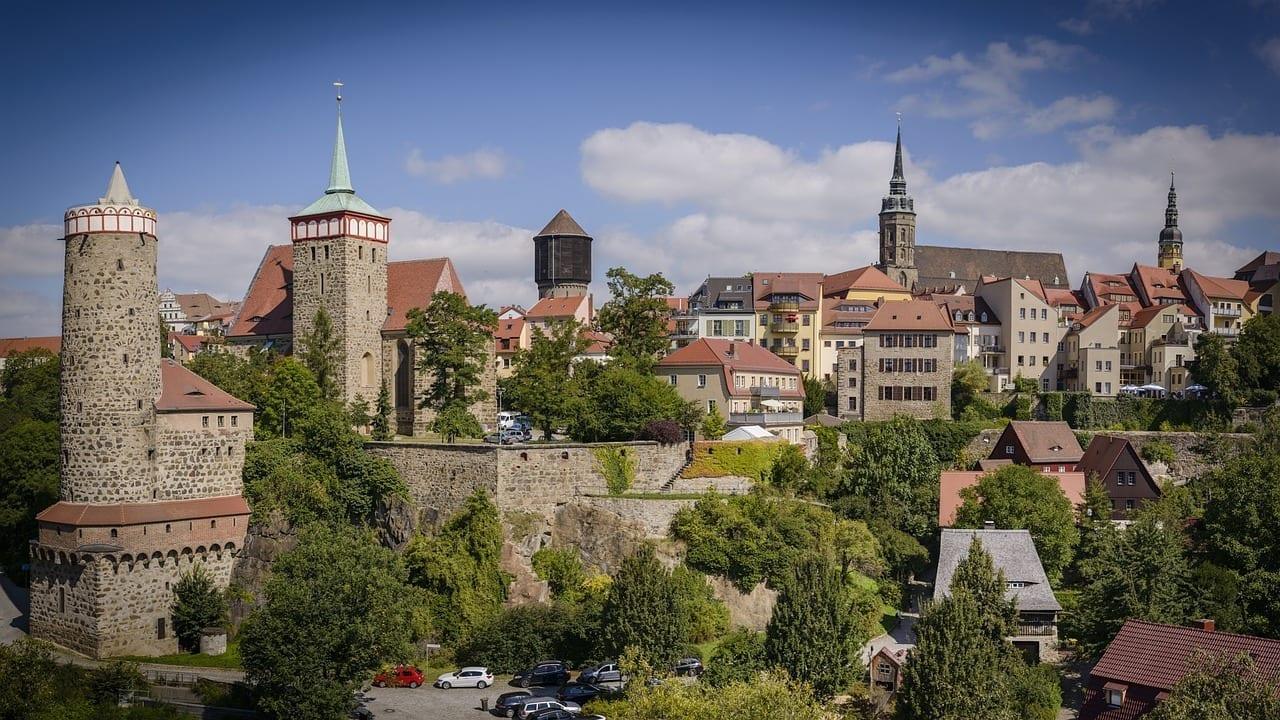 Bautzen De La Ciudad Panorama Alemania