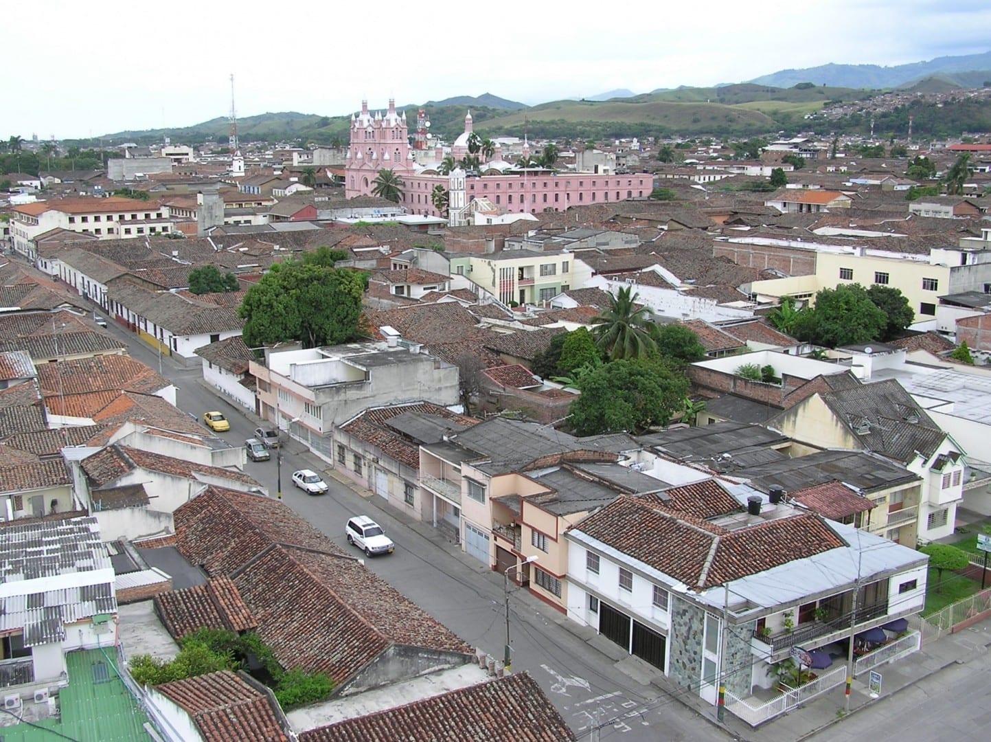 Buga visto desde el Faro Buga Colombia