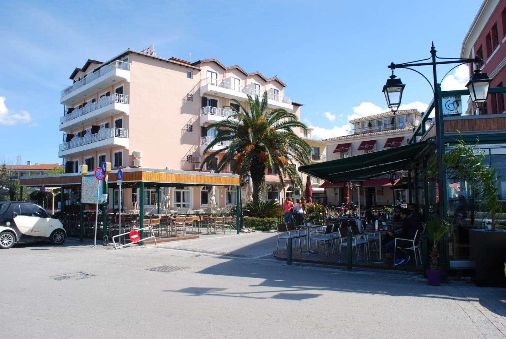 café Léucade Grecia