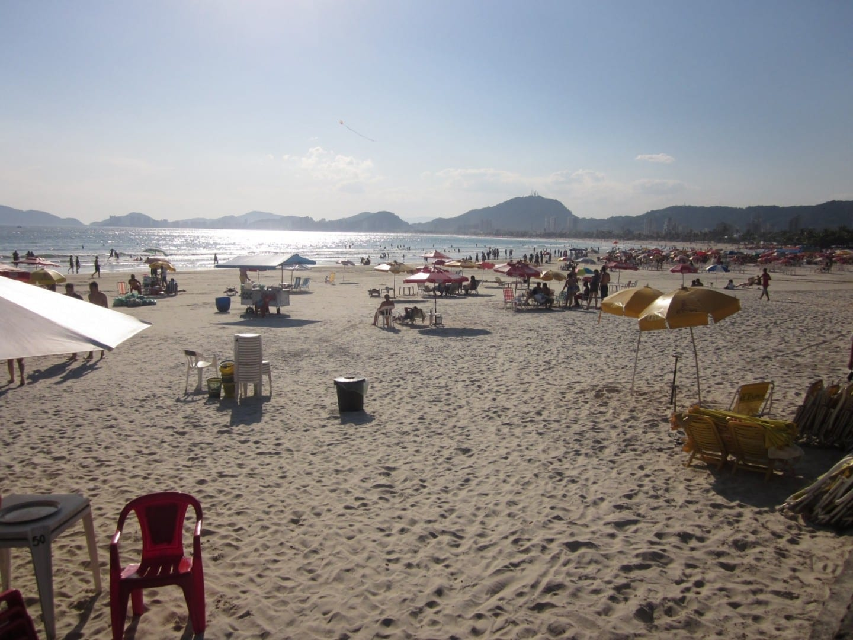 Cala de la playa, Guarujá. Guaruja Brasil