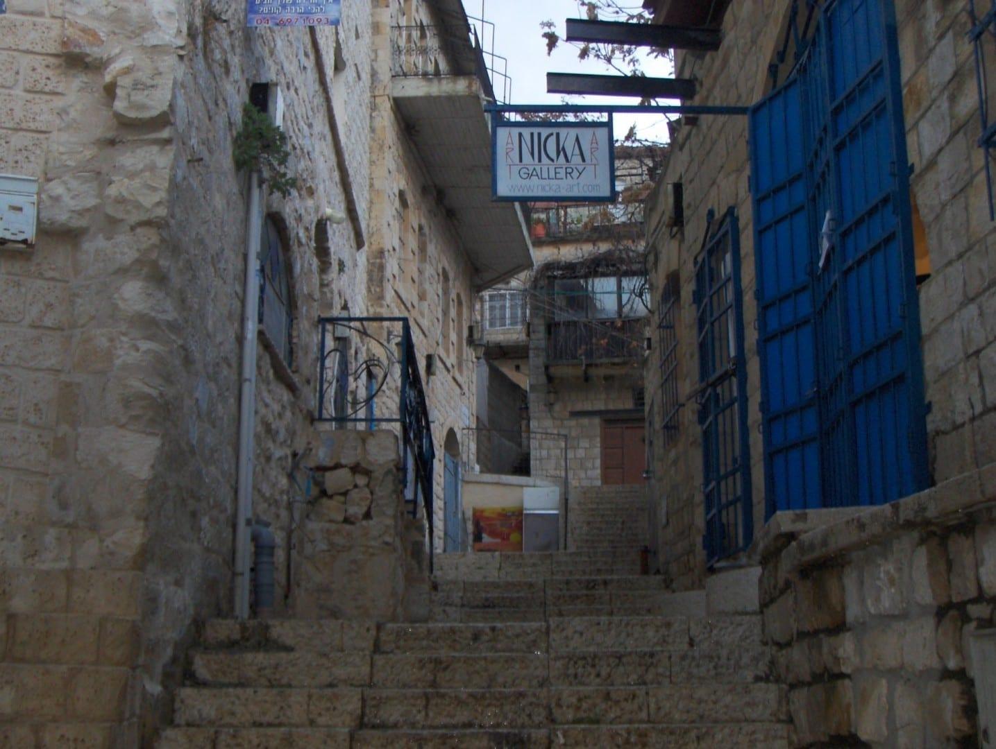 Callejón en Safed Safed Israel