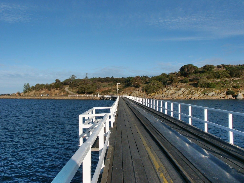 Calzada de la isla de granito Victor Harbor Australia