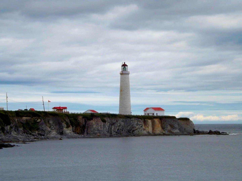 Cap-des-Rosiers se jacta de tener el faro más alto de Canadá. Gaspé Canadá