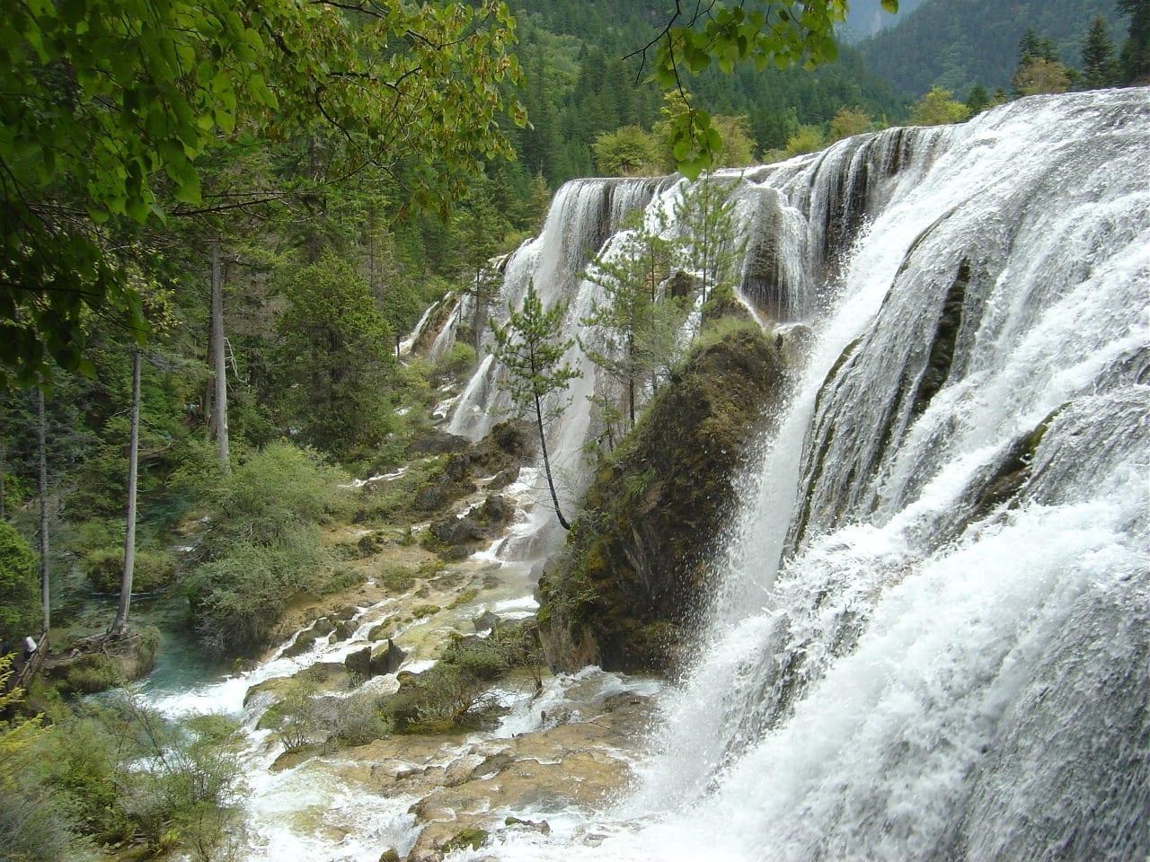 Cascada de Perlas Jiuzhaigou China