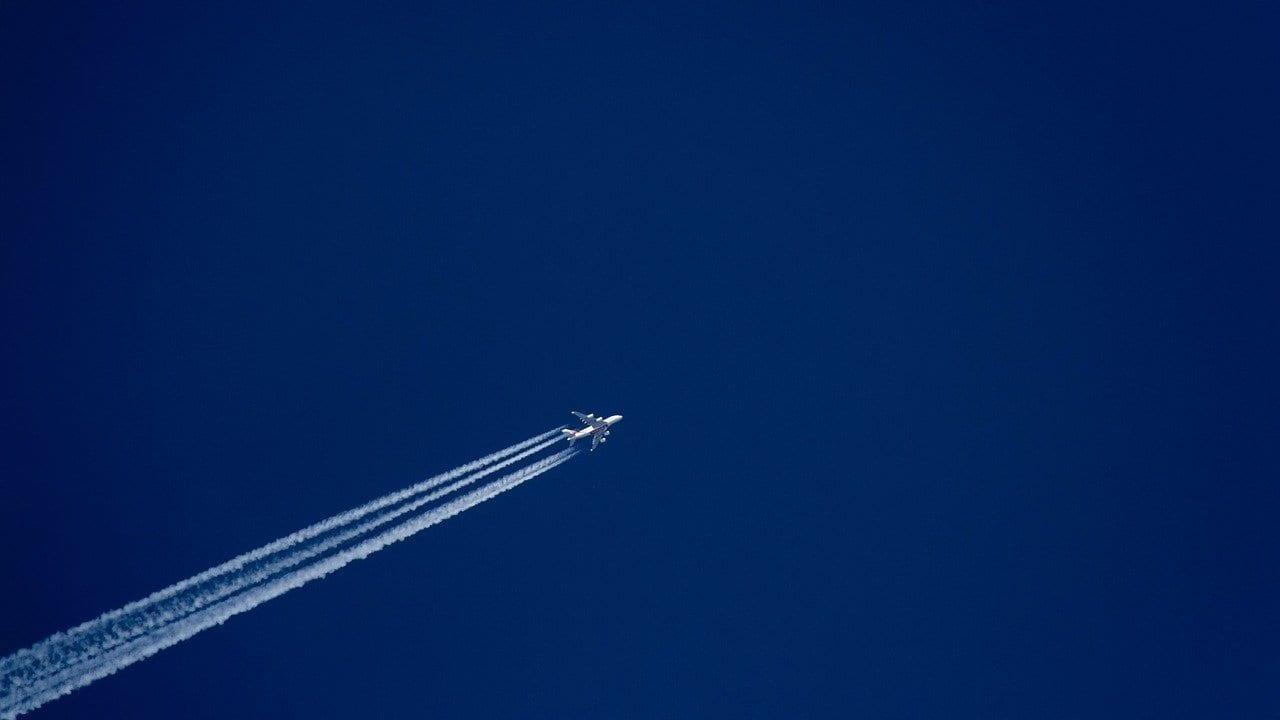 Cielo Avión Vapor Trail Canadá