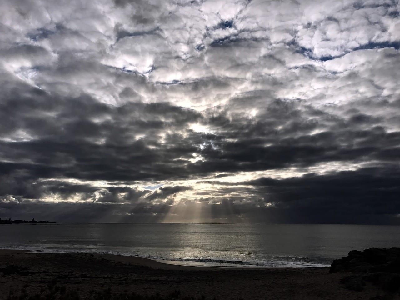 Cielo Puesta De Sol Mandurah Australia