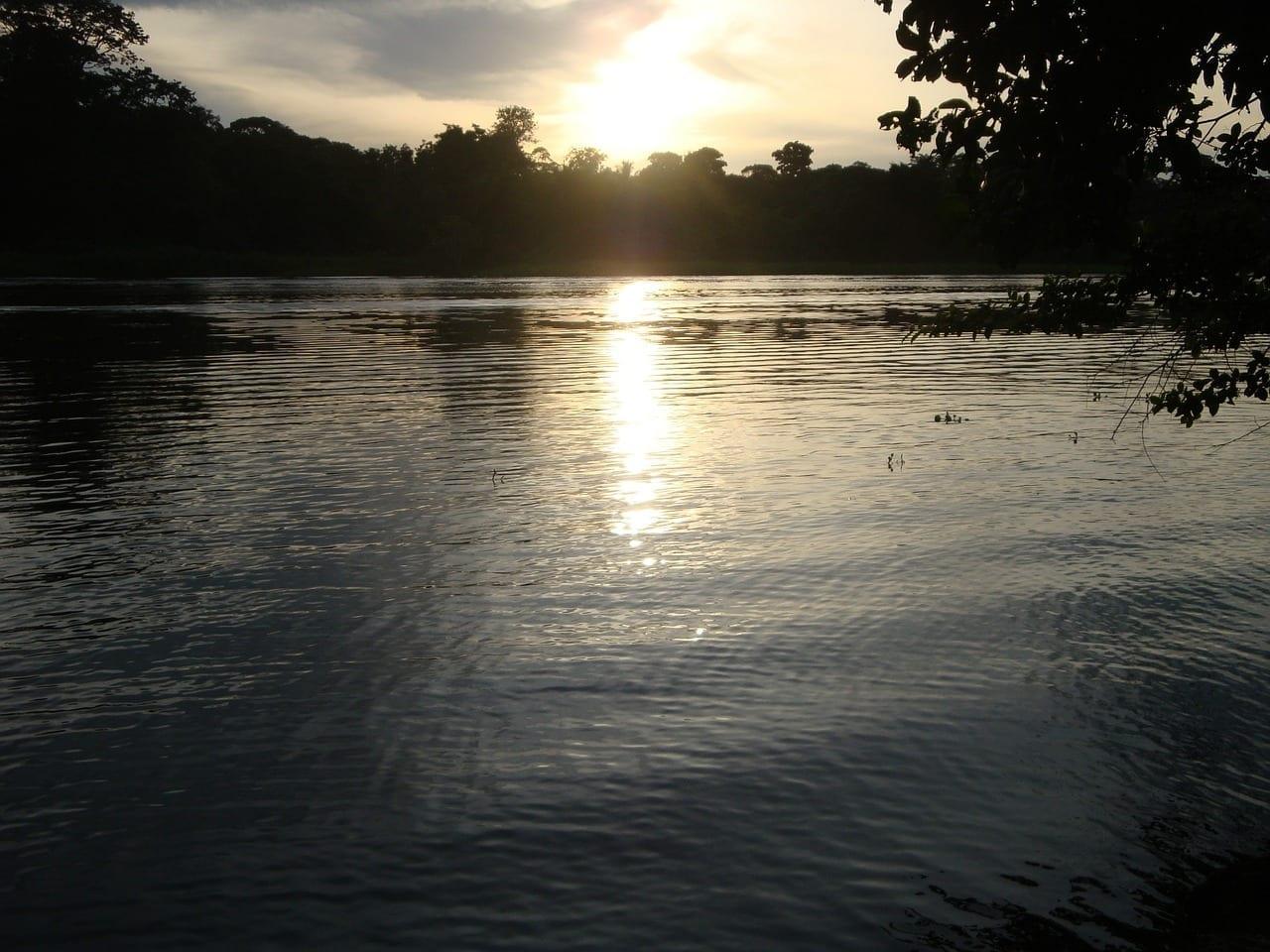 Costa Rica Tortuguero Puesta Del Sol Costa Rica