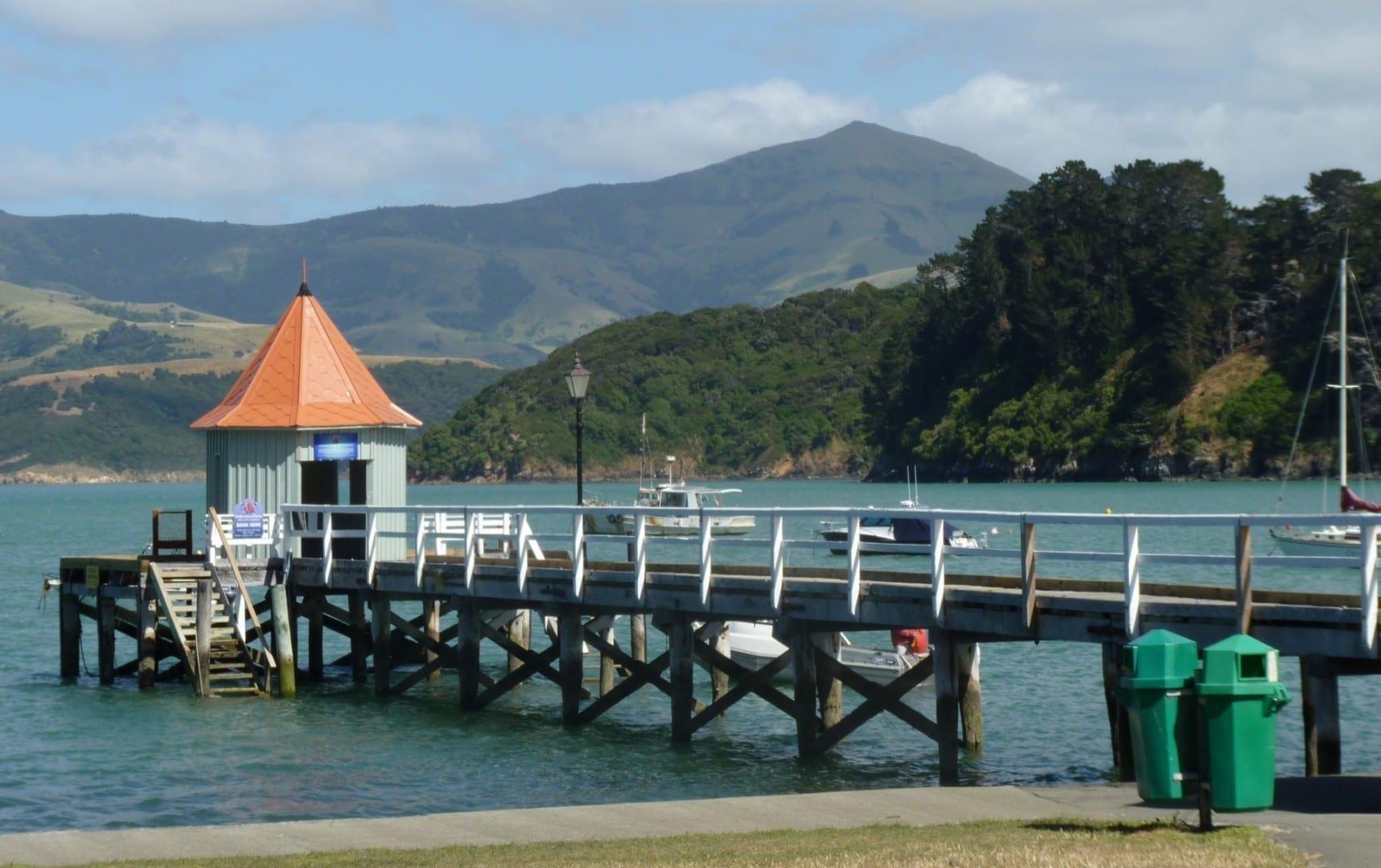 Dalys Wharf, al final de la Rue Balguerie Akaroa Nueva Zelanda