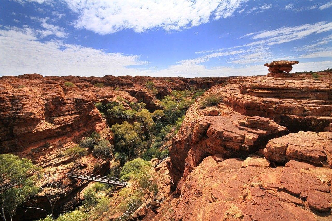 De Kings Canyon Senderismo Australia Australia