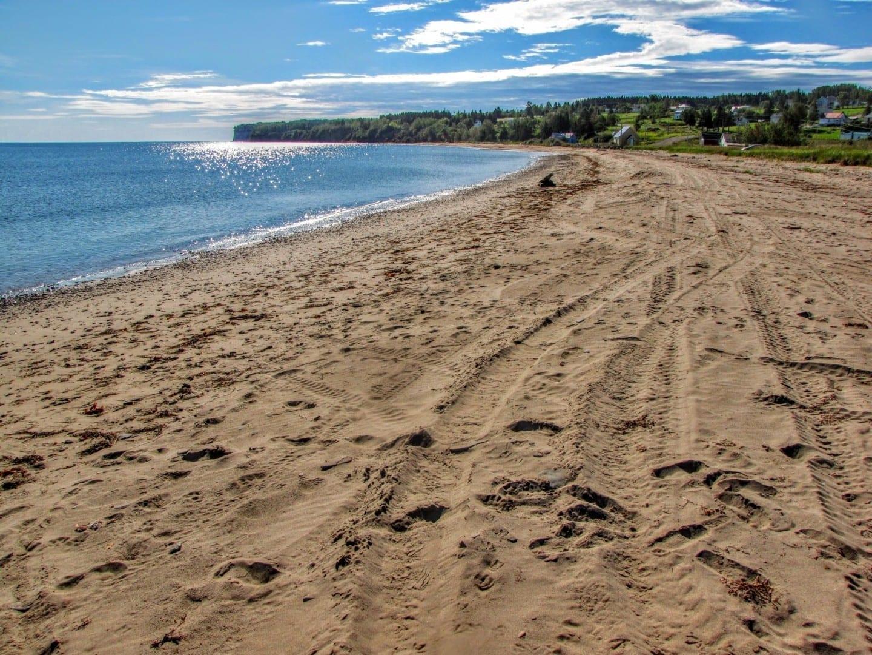 Douglastown Beach es la más aislada de las playas públicas de Gaspé. Gaspé Canadá