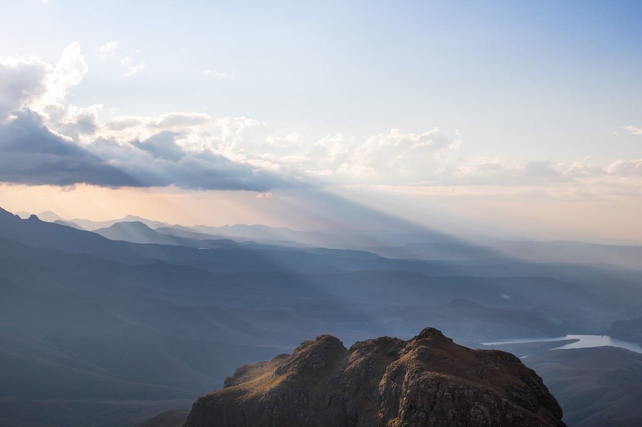 Drakensberg Montañas Paisaje República de Sudáfrica