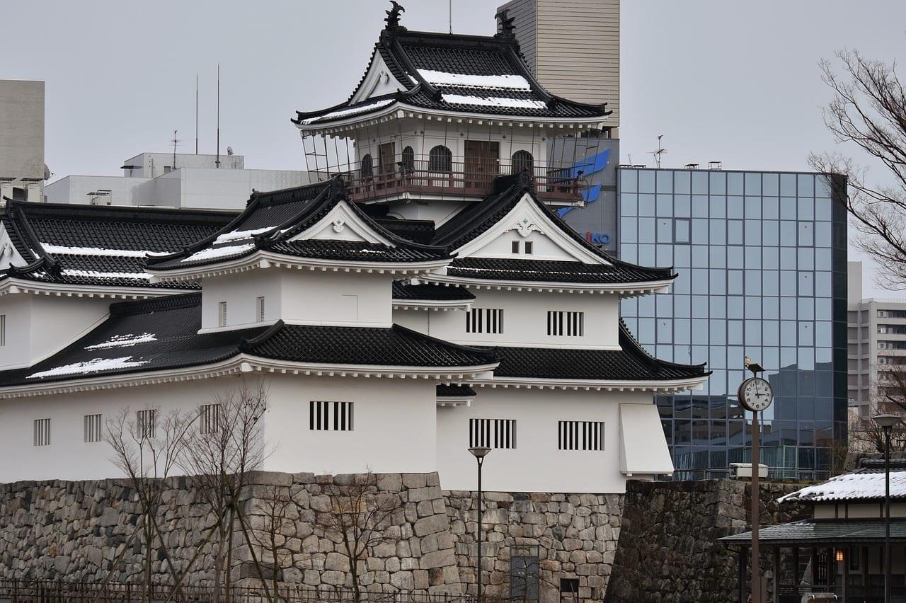 Edificio Castillo Castillo Toyama Japón