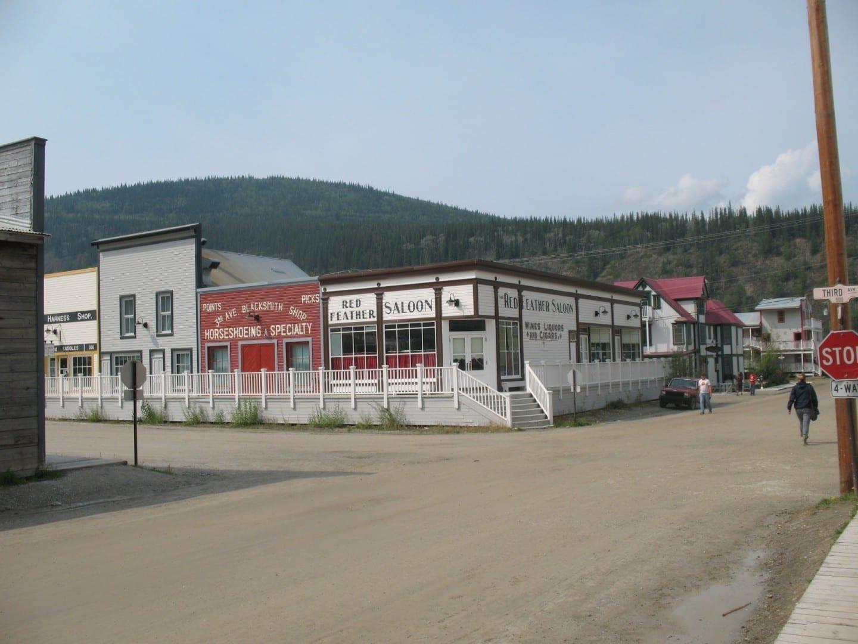 Edificios anticuados Dawson City Canadá