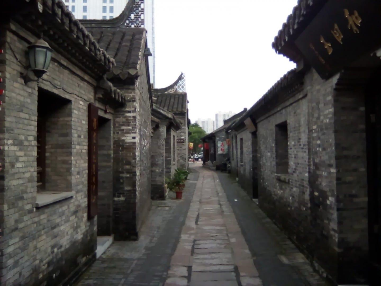 El antiguo barrio del distrito de Jiangyan, donde nació el ex líder chino Hu Jintao. Taizhou-Jiangsu China