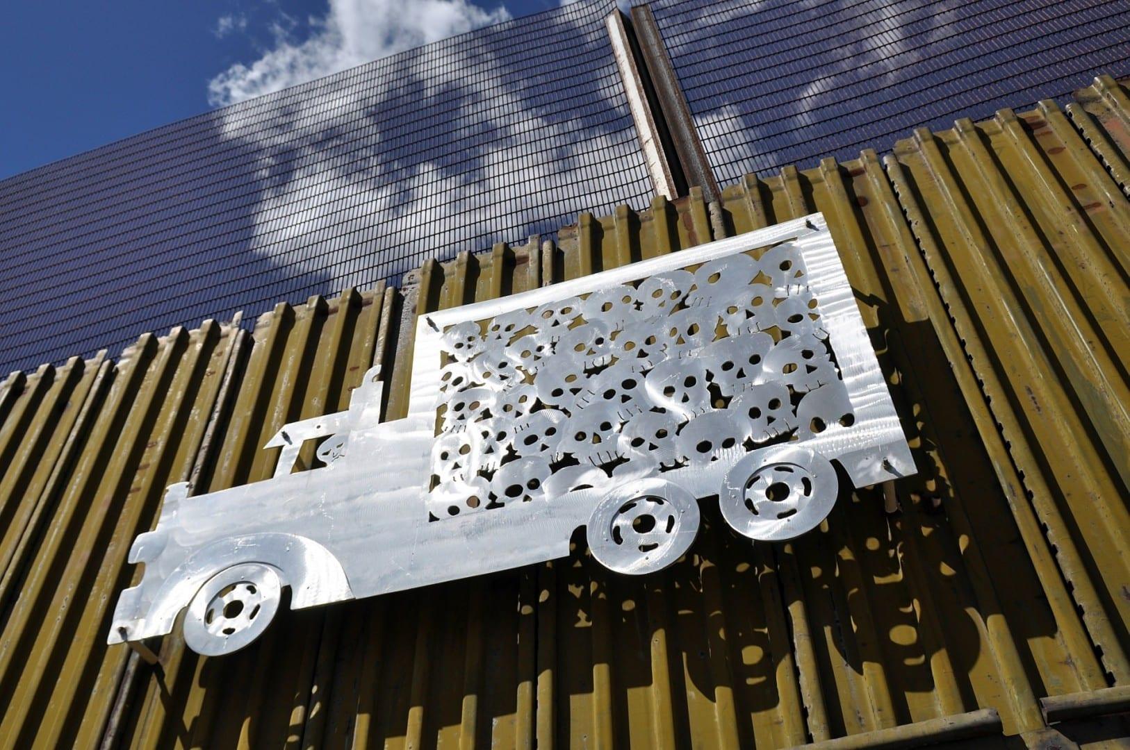 El arte en el lado mexicano del muro fronterizo Nogales México