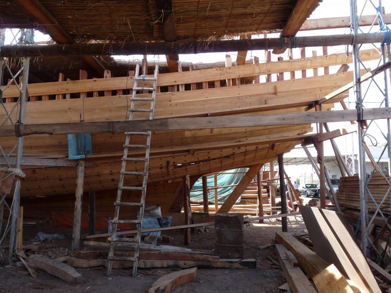 El astillero Dhow Sur City Omán